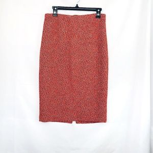 New York & Co. 7th Avenue Red Black Pencil Skirt